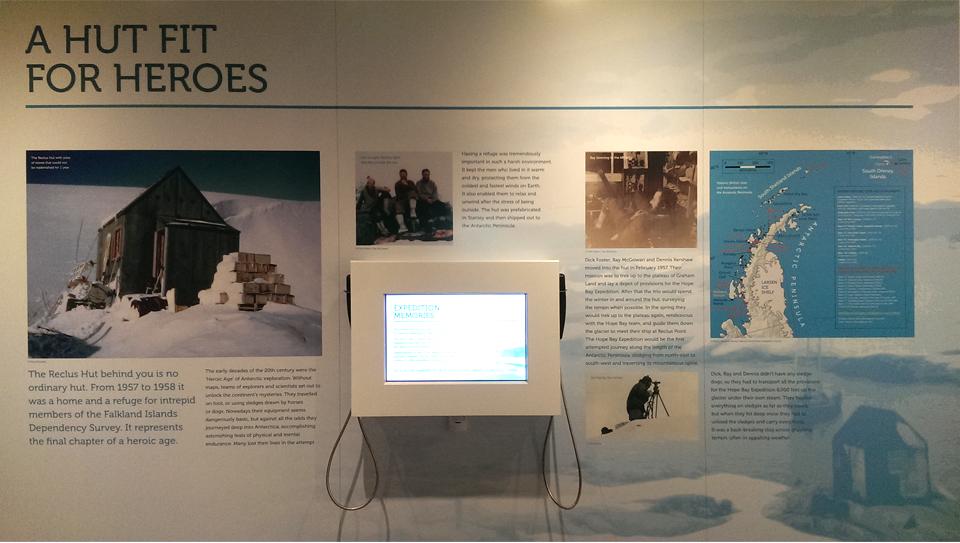 Falkland Islands Museum audio visual installation screens