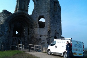 Denbigh Castle North Wales visitor attraction installation