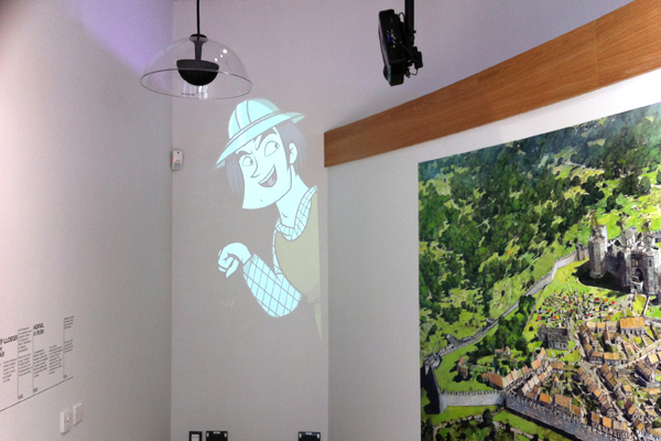 Denbigh Castle North Wales visitor attraction screen projection installation