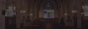 Church audio visual installation services Devon APi Communication slider