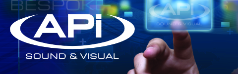APi Communications audio visual solutions website header