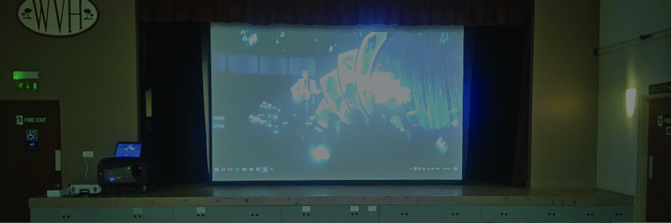 Village Hall Projection Installation by APi Sound & Visual Slider